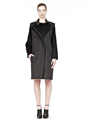 Alexander Wang 2-In-1 Zip Front Coat