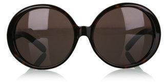 Miu Miu Tortoiseshell Oversized Circular Sunglasses