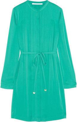 Diane von Furstenberg Atira pleated stretch-silk dress