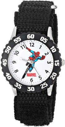 "Marvel Kids' W000106 ""Time Teacher"" Stainless Steel Watch with Black Nylon Band"