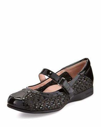 Taryn Rose True Woven Mary Jane Sneaker, Black $299 thestylecure.com