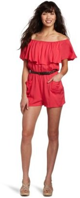 My Michelle Juniors Belted Romper