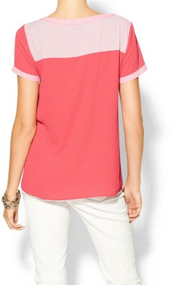 Juicy Couture Hive & Honey Color Blocked Top