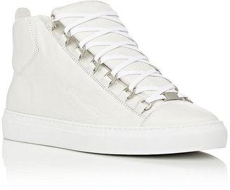 Balenciaga Men's Men's Arena Leather Sneakers