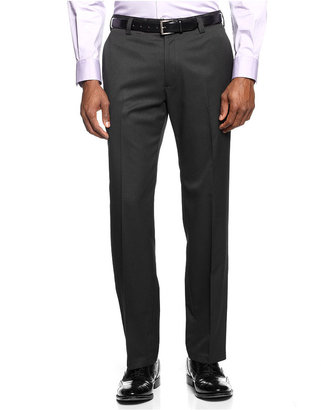 Kenneth Cole Reaction Slim-Fit Textured Striped Dress Pants