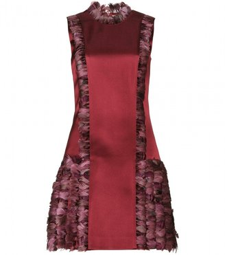 Christopher Kane Satin dress with feather detail