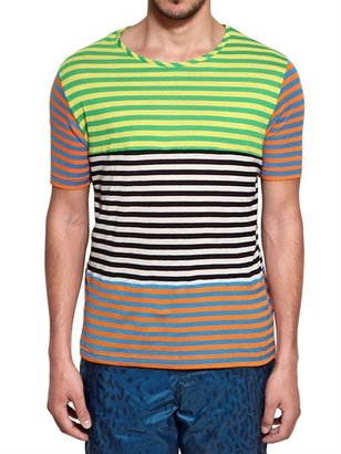 Opening Ceremony Striped Cotton Jersey T-Shirt