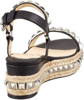 Christian Louboutin Cataclou Flatform Sandal, Black