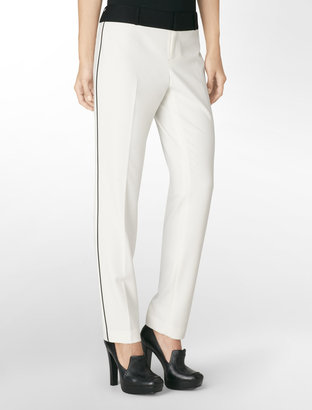 Calvin Klein Favorite Fit Colorblock Slim Leg Pants
