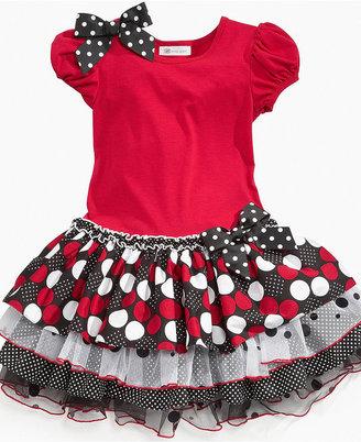 Bonnie Jean Girls Dress, Little Girls Drop-Waist Tier Dress