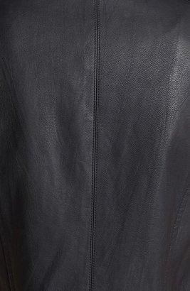 ASTR Fringed Back Faux Leather Moto Vest