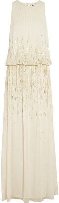 ALICE by Temperley Sequined georgette maxi dress