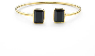 Margaret Elizabeth - Emerald 2 Stone Bangle Black Onyx