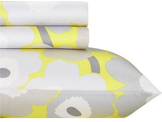 Marimekko Pieni Unikko Yellow Twin Extra Long Sheet Set