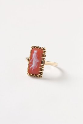 Anthropologie Sardonyx Cameo Ring