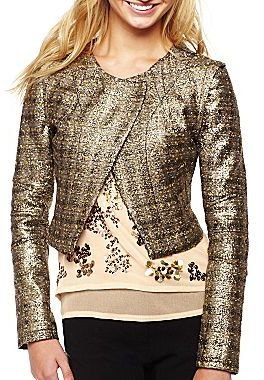 XOXO Gold Fleck Cropped Jacket