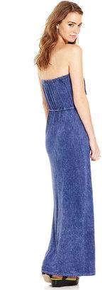 Teen Vogue Juniors Dress, Strapless Fringe Maxi