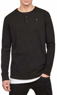 G Star Casual Cotton Henley