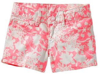 Gap Floral denim shortie shorts