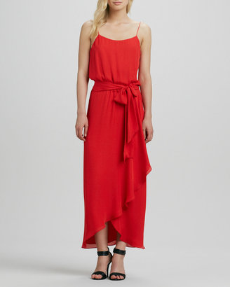 Haute Hippie Cami Gown with Ruffled Slit