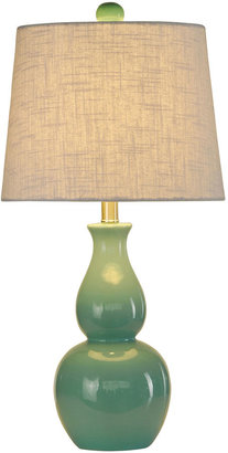 Casa Creations Double Gourd Ceramic Table Lamp
