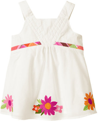 Gymboree Embroidered Flower Swing Top