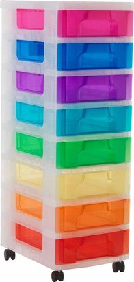 Really Useful Box Really Useful 8 Drawer Multicoloured Tower Storage Unit