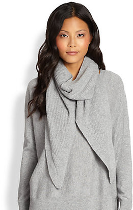 Eileen Fisher Ribbed Cashmere Scarf