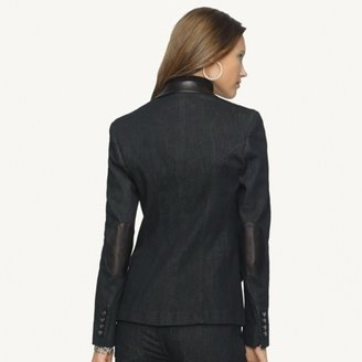 Ralph Lauren Black Label Denim Leather-Trim Norris Jacket