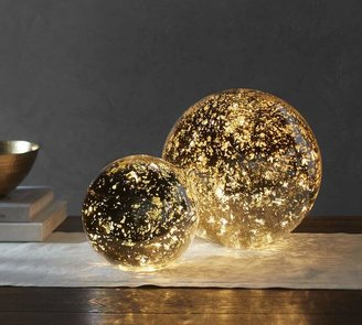 Lit Mercury Glass Globe