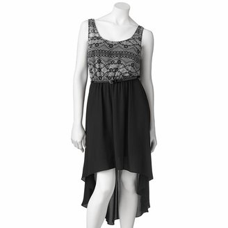 Candies Candie's ® lace pleated hi-low dress - juniors