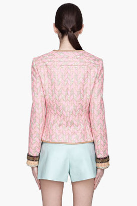 Matthew Williamson Fluorescent pink Slim Box blazer