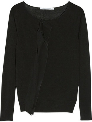 Diane von Furstenberg Ainthe ruffled silk and cotton-blend cardigan
