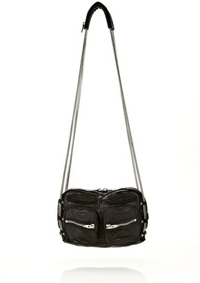 Alexander Wang Brenda Chain In Washed Black With Rhodium