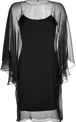 Ralph Lauren Sheer Sleeve Dress
