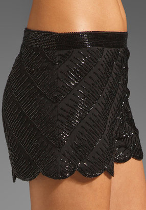 Karina Grimaldi Alandia Scallop Beaded Short