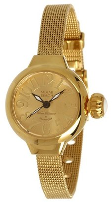 Glam Rock Miami Beach by Art Deco 26mm Gold Plated Mesh Watch - MBD27146 (Gold) - Jewelry