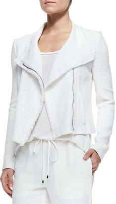 Vince Frayed-Trim Textured Jacket