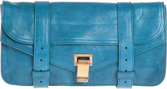 Proenza Schouler Leather PS1 Pouchette - Sea Blue