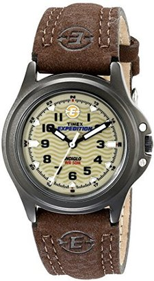Timex Women's T47042 Expedition Metal Field Olive/Brown Leather Strap Watch $119.99 thestylecure.com
