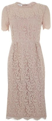 Hobbs Pink lace dress