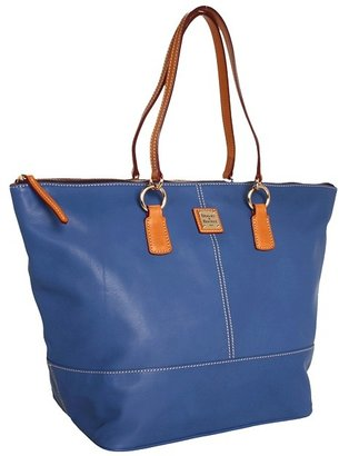 Dooney & Bourke Lambskin Solids O-Ring Shopper (Denim) - Bags and Luggage