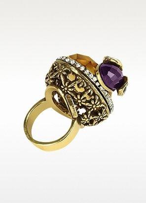 Alcozer & J Crystal Bee Brass Ring