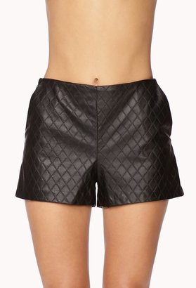 Forever 21 Classy Quilted Faux Leather Shorts