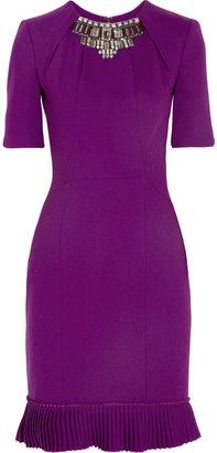 Matthew Williamson Winter embellished stretch-wool crepe dress