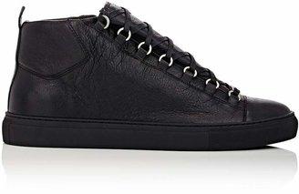 Balenciaga Men's Arena Leather Sneakers