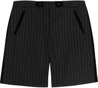 Alexander Wang Striped wool-blend shorts