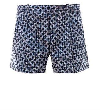 Theory Clah geometric jacquard shorts