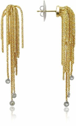Orlando Orlandini Flirt - Diamond Drops 18K Yellow Gold Earrings