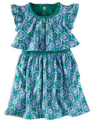 Tea Collection 'Peacock Tile' Play Dress (Baby Girls)